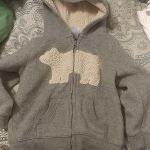 Carter's Infant Gray Polar Bear Hoodie